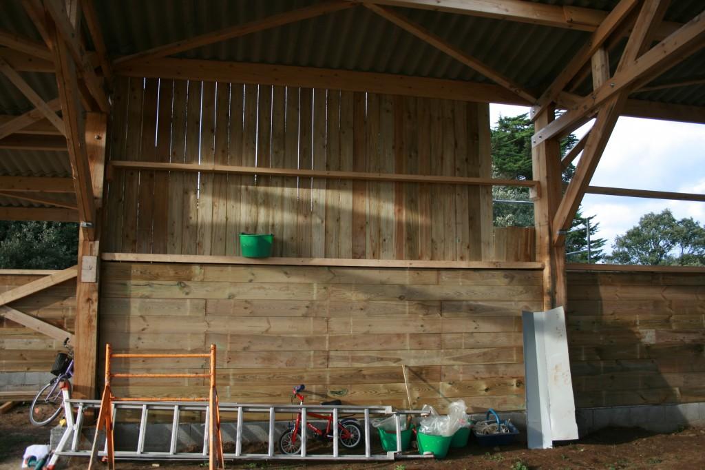 La ferme d 39 emilie 2011 ao t agriculture biologique - Pose bardage bois interieur ...
