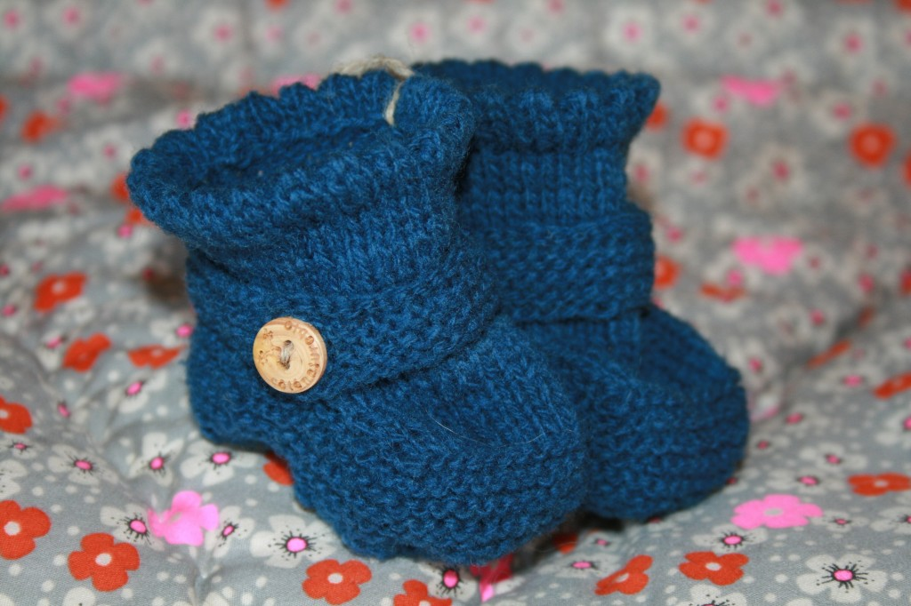 chaussons bébé bleus