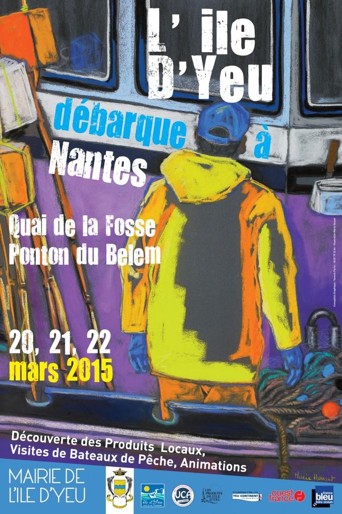 Affiche L'île d'Yeu débarque à Nantes